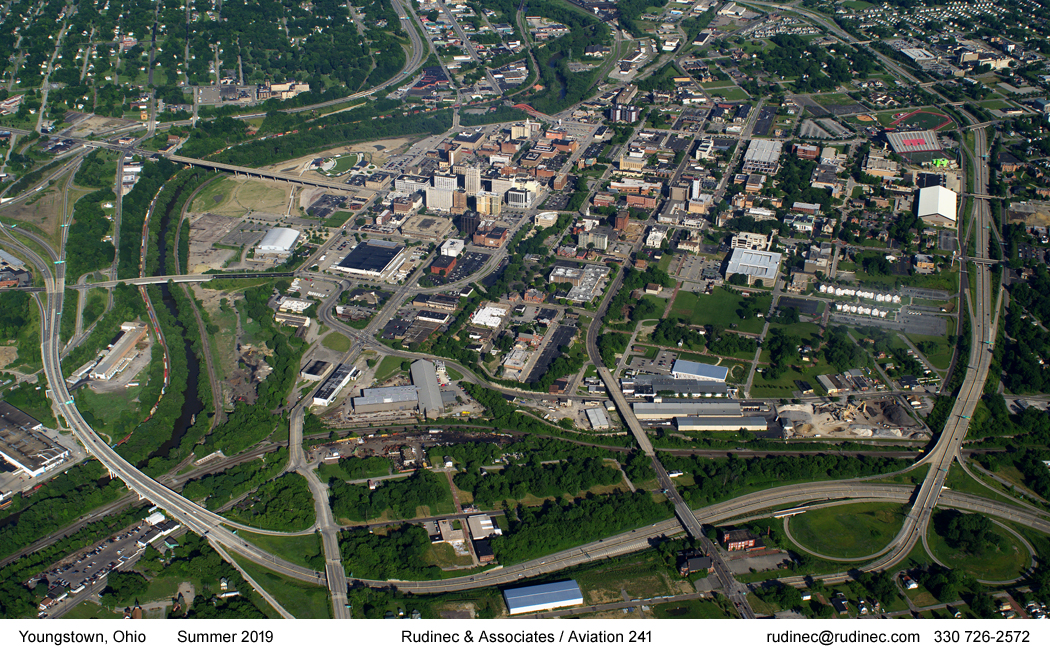 Aerial Photograph of Youngstown Ohio