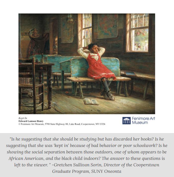 """Kept In"" by Edward Lamson Henry - Fenimore Art Museum"